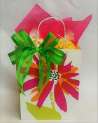 Painted Flower Double Bag